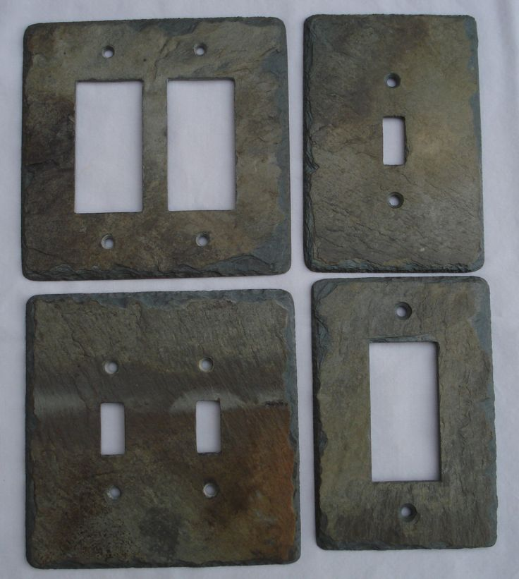Vermont Slate Art~ hand crafted customized slate switchplates stone switch plates doorbell & 62 best Decorative Slate Switch Plates images on Pinterest | Slate ...