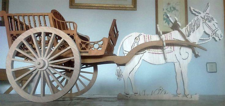 Candies donkey cart, scroll saw fretwork pattern
