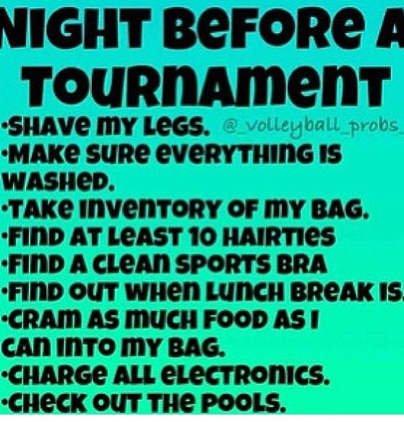 So True! Could be volleyball or basketball!