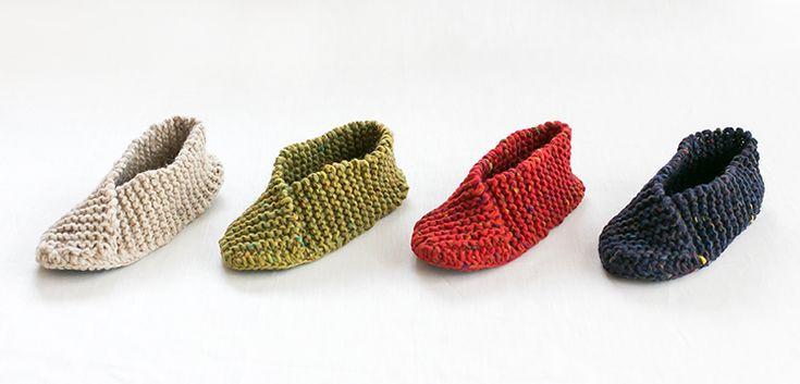 ガーター編みのルームシューズ | 編み物キット販売・編み方ワークショップ|イトコバコ