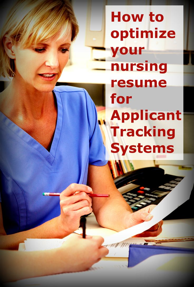 emergency nurse resume%0A    Tips for Your Nursing Resume and Applicant Tracking Systems