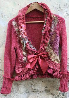 Little baroque jacket  shabby chic romantic by FleurBonheur