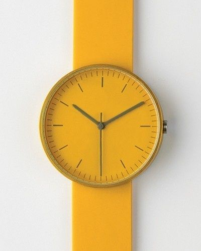 Yellow Watch. Doesn't this watch make you feel calm and happy?