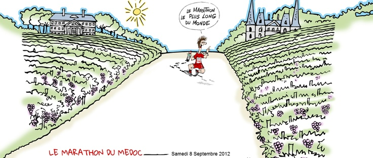 """This coming September 8 2012 be part of """" Le Marathon du Médoc """"     More than a marathon, the marathon of Médoc is one of the most run and fun marathon. Each year thousands of people, many of them in flamboyant fancy dress, gather in the town of Pauillac in the Médoc area of Bordeaux to run a course that winds through some of the world's greatest vineyards and is, without a doubt, the most Bacchanalian event in the charity sporting calendar.    Read more at winechictravel.com"""