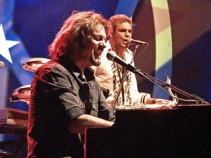 Gregg Rolie and Mark Rivera at Horseshoe Casino 7/8/12 (Photo by Peter S. Sakas DVM)