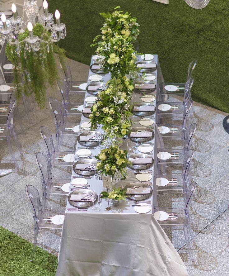 Overhead view of tables