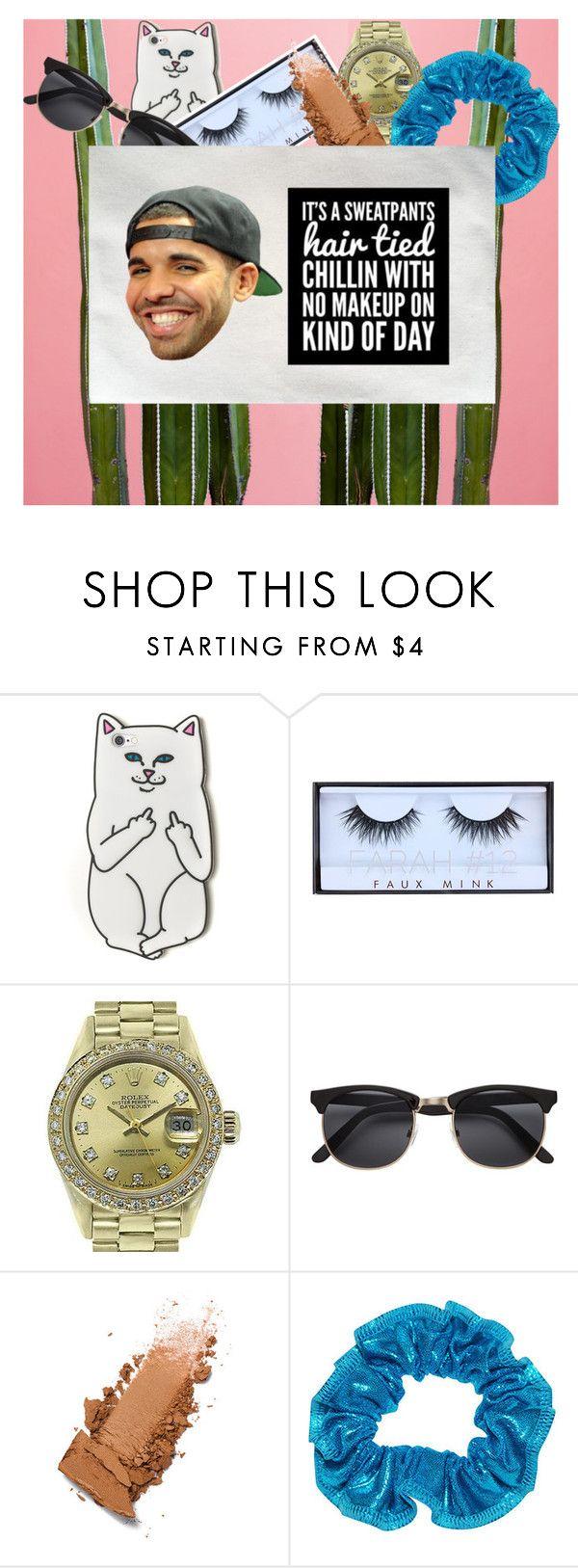 """""""drake makeup bag Accesories – htotheizzy Clothing"""" by htotheizzyclothing on Polyvore featuring beauty, RIPNDIP, Huda Beauty and Rolex"""