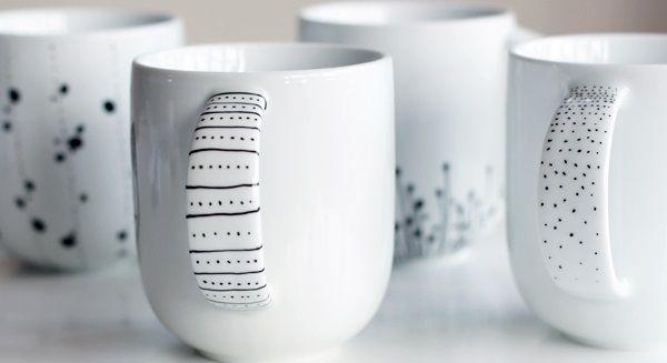 15 tazas pintadas a mano para alegrarte las mañanas