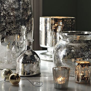 """Mercury Glass seems to satisfy both my magpie instincts for anything silver and shiny and my love of anything glass... gorgeousness, twinkling and glimmering as it does in candlelight"" @deardesigner"