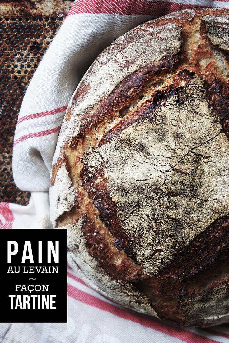 """Découvrez toutes les astuces pour réussir votre pain au levain ! Vous allez pouvoir avec cette recette, réaliser un délicieux pain """"Tartine"""" au levain ..."""