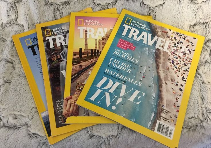 National Geographic Travel Magazines Lot of 4 Magazines 2015-2016 World Travel