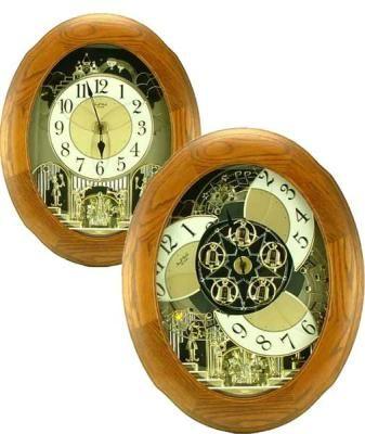 Joyful Nostalgia Oak by Rhythm Clock