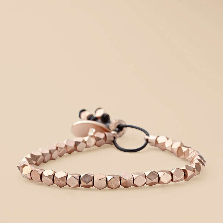 FOSSIL® Jewelry Bracelets:Women Faceted Stretch Bracelet – Rose JA5496