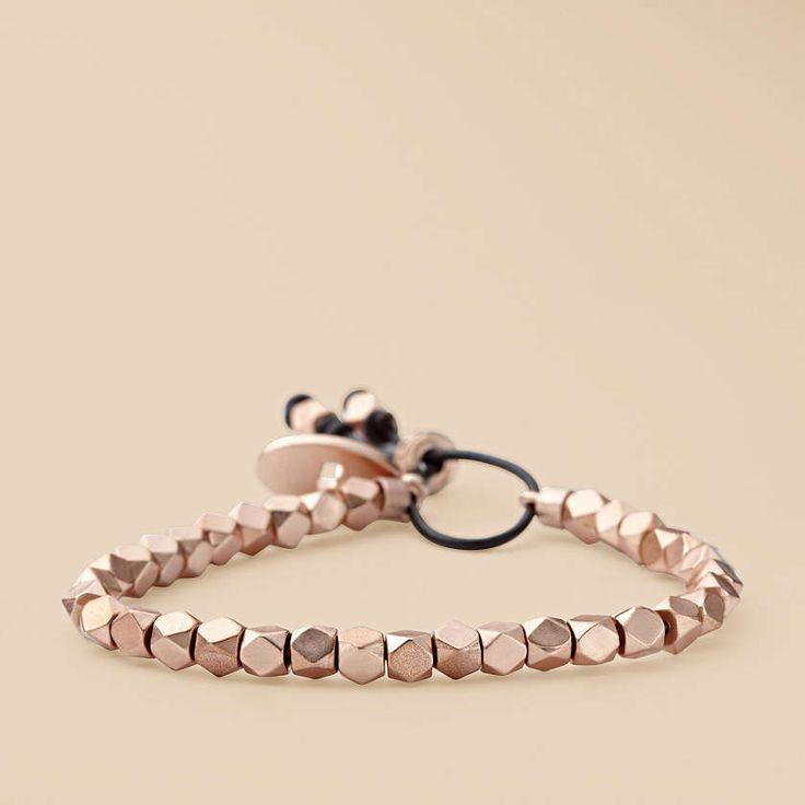 FOSSIL® Jewelry Bracelets:Women Faceted Stretch Bracelet – Rose JA5496