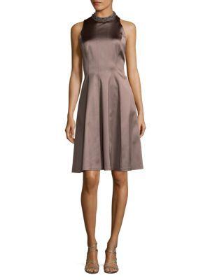 KAY UNGER Bead Neck Sheath Dress. #kayunger #cloth #