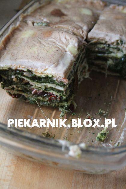 Lazania naleśnikowa ze szpinakiem / Crepes-Lasagna with ...