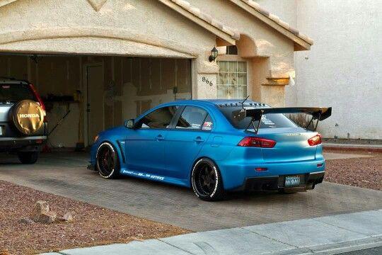 Mitsubishi Evo X w/ flat Blue