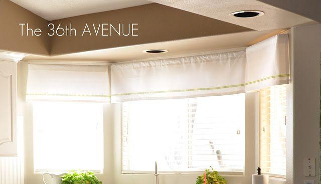 The 36th AVENUE | Washi Tape Window Treatment.  kitchen window idea