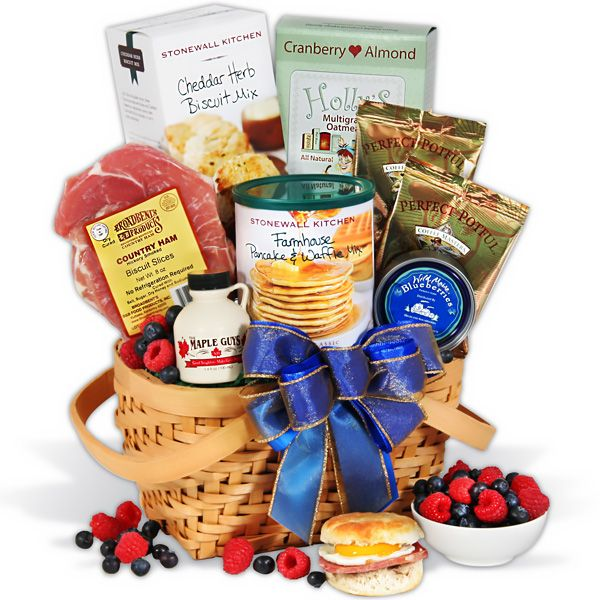 Breakfast Gift Basket for Christmas Morning by GourmetGiftBaskets.com