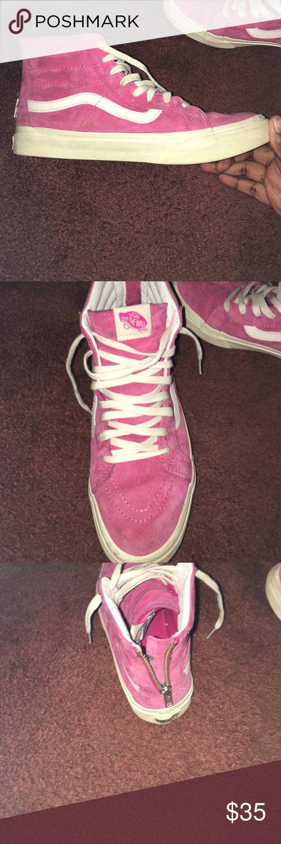 Roller shoes vans - Suede Pink High Top Vans