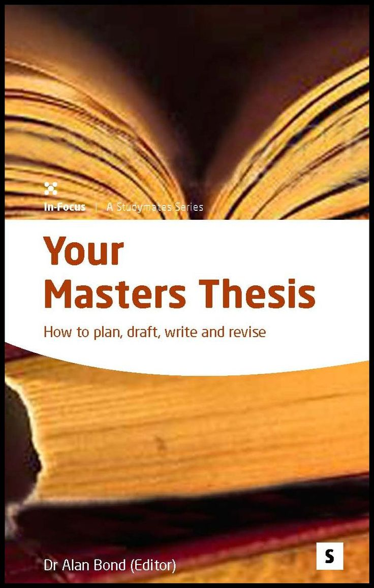A GUIDE TO WRITING YOUR MASTERS DISSERTATION