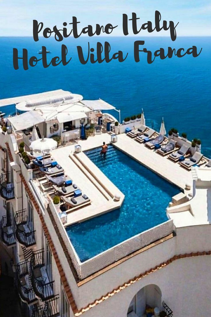 Hotel Villa Franca Positano Italy Roof Top Pool With