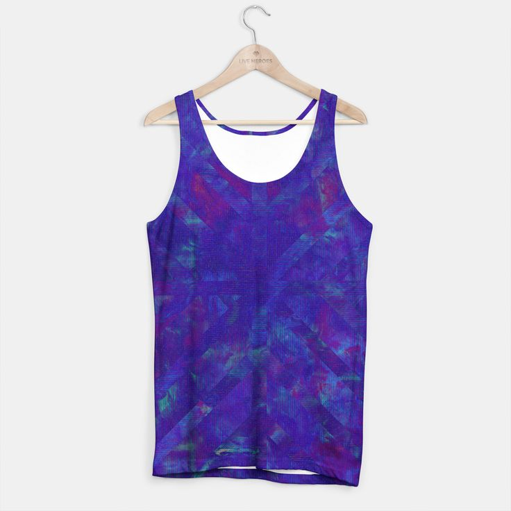 Painted Geometry 1 Tank top by Fimbis  _________________________________ purple, violet, ultra violet, stripes, cyan, fluid art, fluid painting, apparel, mens wear, women wear, fashionista, fashion, style, colour of the year, color of the year, tank,