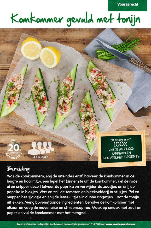 Recept voor komkommer gevuld met tonijn #Lidl