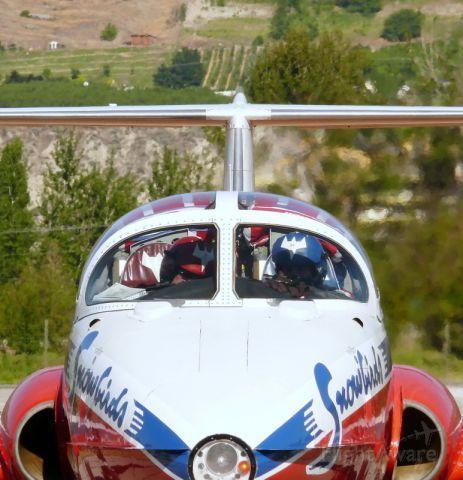 Canadian Forces aerobatic team - Snowbirds.  Penticton Regional Airport CYYF