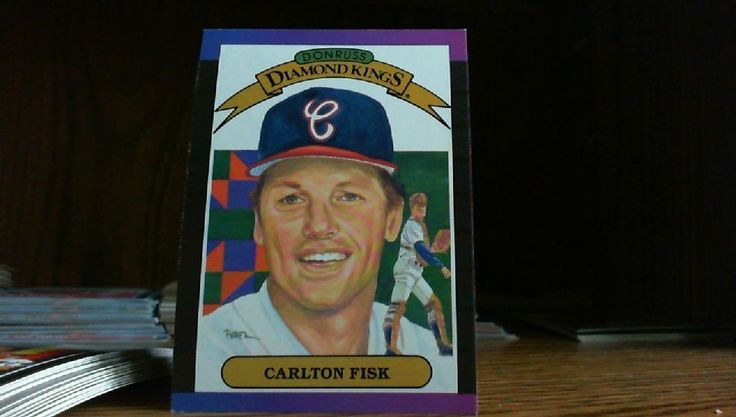 DON RUSS DIAMOND KINGS 1988 CARLTON FISK CARD#7 CHICAGO WHITE SOX.