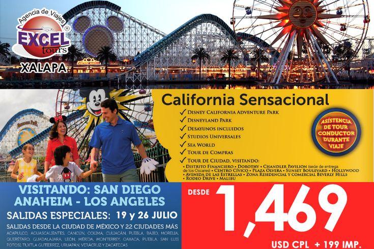 Verano en California!, disfruta de los mejores parques de diversiones! | Agencia de Viajes en Xalapa Excel Tours