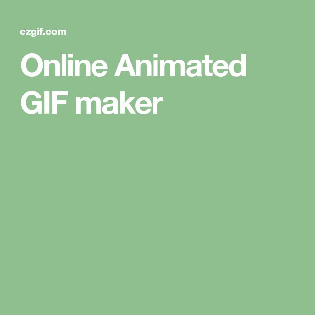 Online Animated GIF maker