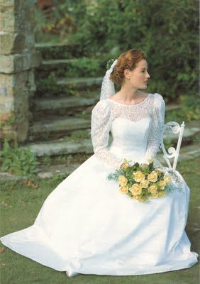 Wedding dress from Laura Ashley catalogue