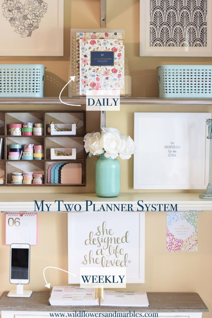 2017 Simplified Planner: Reviewing | Planning | Keeping the Day Together | Wildflowers and Marbles