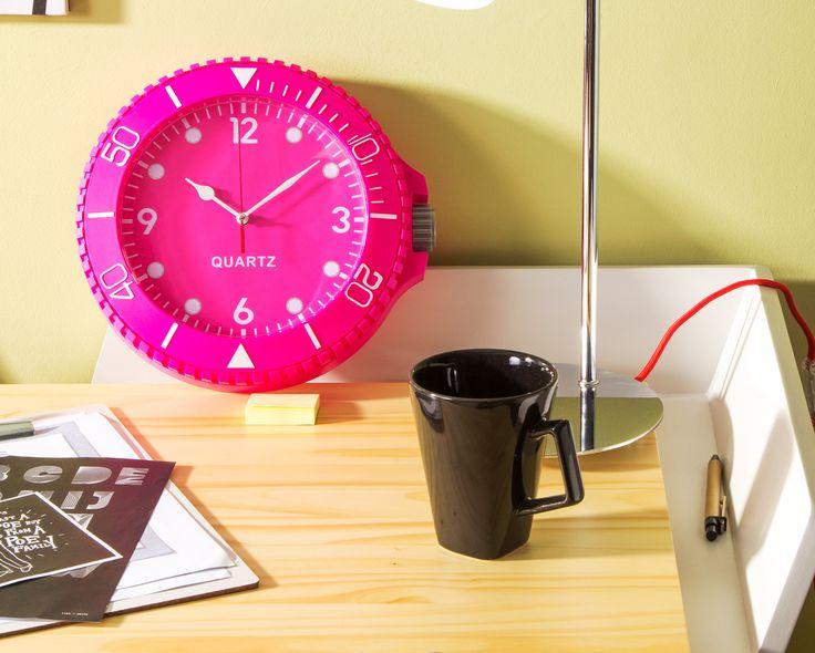 Relógio de Parede Colorix - Pink