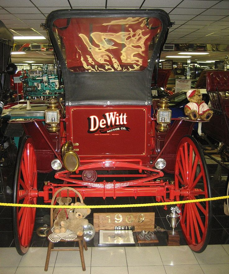 1909 DeWitt-The DeWitt Motor Company produced automobiles in a factory in North Manchester, Indiana from about 1908 through 1910. The vehicles came in two models, a 2-seater runabout and a 2-seater light truck. and were powered by a simple 2-cylinder opposed air-cooled engine