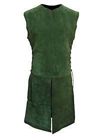 Waffenrock aus Leder grün   #suede #green #larp