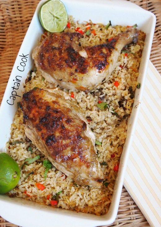 Captain Cook: Κοτόπουλο με Απίθανο Γλάσο και Σπυρωτό Ρυζάκι