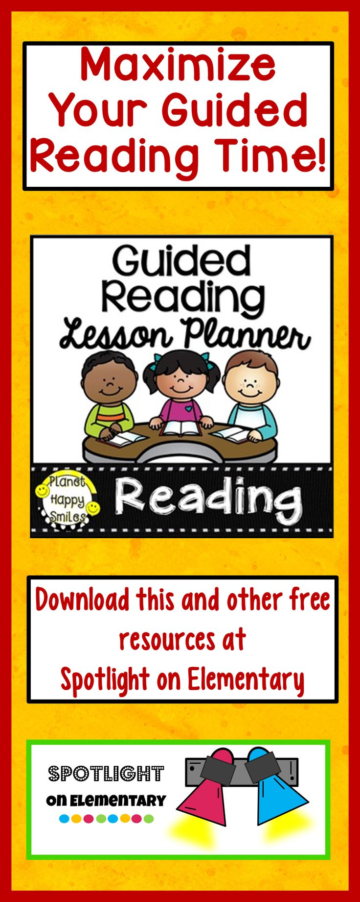This FREE lesson planner will make your guided reading time more efficient!