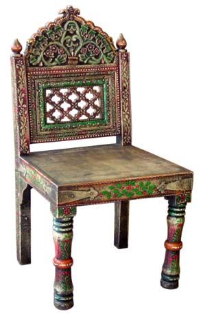 Chairs Made From Wood Rajasthan Handicrafts Indian Furniture