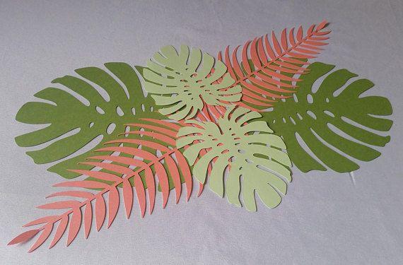 Tropical Leaves Set Tropical Leaves Tropical Leaves Runner