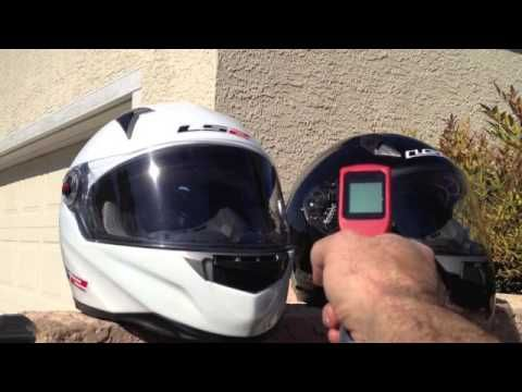 LS2 Helmets uses a black and a white motorcycle helmet to demonstrate how much of an effect color can have on the hear that makes its way to the rider.   http://www.facebook.com/LS2HelmetsUS http://www.ls2helmets.us