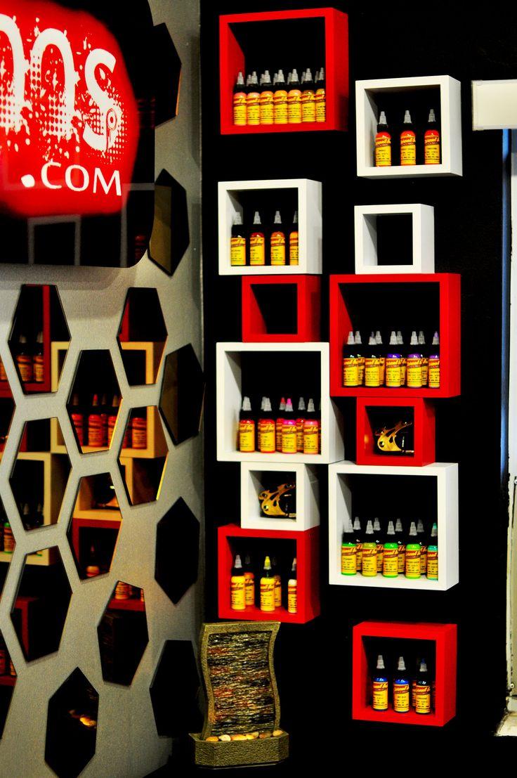 Ink storage, paint each cube the corresponding colour.