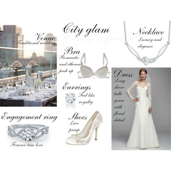 """City Glamorous Wedding"" by thefashionjourn on Polyvore"
