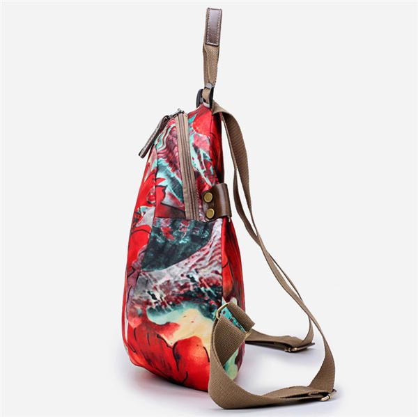 Multifunctional Flower Pattern Waterproof Bag Backpack Shoulder Bags Handbag For - US$30.90