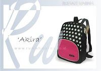 A 'spotted' Akira This Backpack has a different look than the other, polka-dot design of materials vinyll dipa...