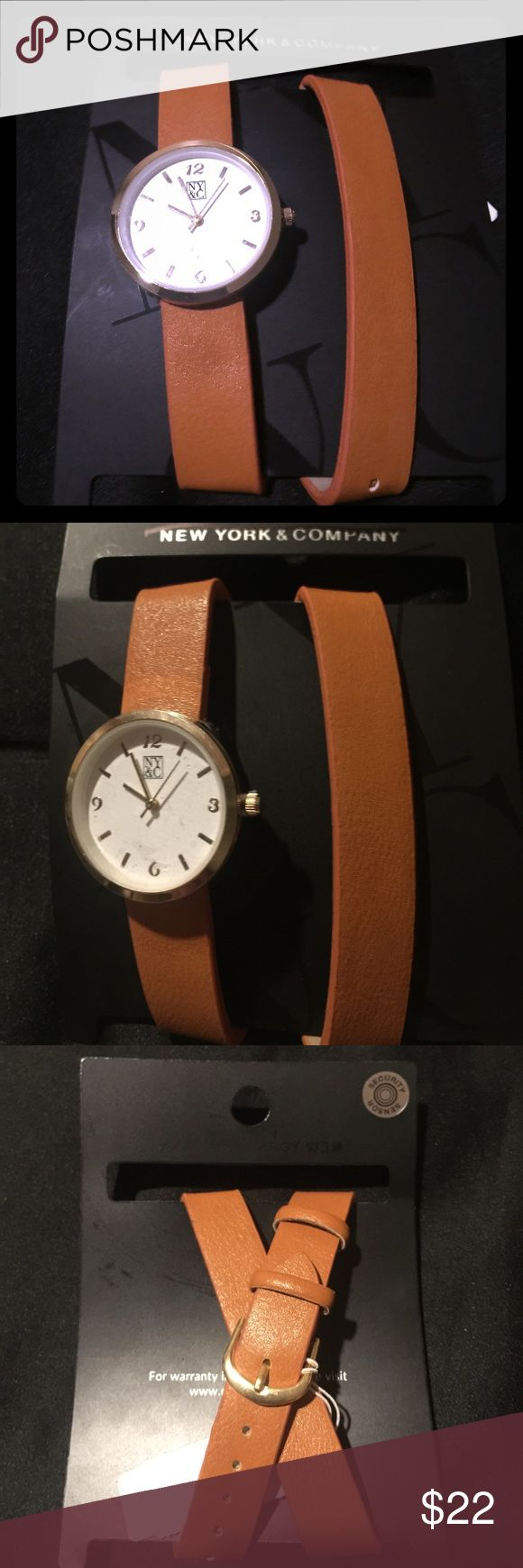 Unique New York & Company Crossed Leather Watch Temporary price cut! Bundle and save! New! Discounted pricing is possible by purchasing straight through the Warehouse. A very Unique Women's watch with crossed genuine leather straps from New York & Company. I love the way this looks on my girlfriend! I even bought one for her myself! She LOVES it! Available in a mocha brown and night black. Authentic Leather and stainless steel.   !!MAKE AN OFFER, don't be shy!! (Prices negotiable on most…