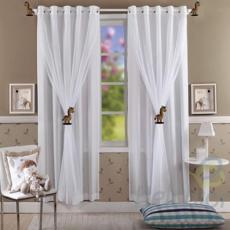 cortina de oxford com voil estampada - Pesquisa Google