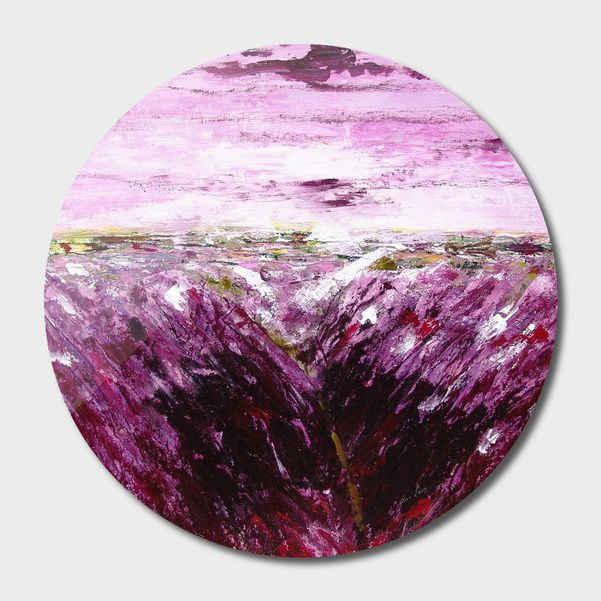 Discover «Lavender fiels», Exclusive Edition Disk Print by Ans Duin - From 55€ - Curioos