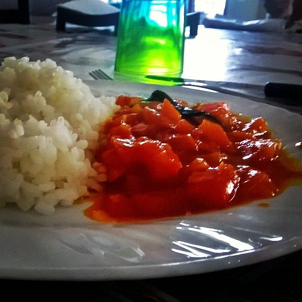#food #riso #rise #peperoni #good